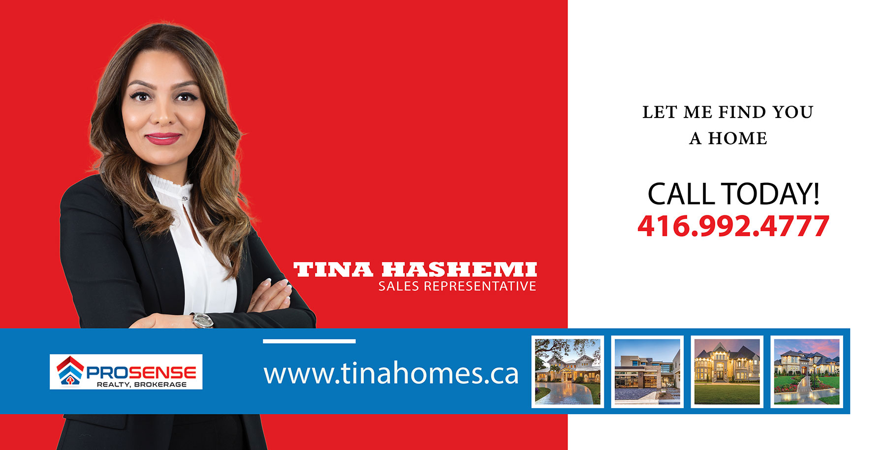 Tina Hashemi, Sales Representative, Prosense Realty, Brokerage